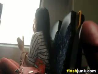 Vták flashing zatiaľ čo jazdenie na the vlak