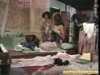 lesbický sex, lesbička, retro porno