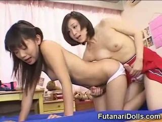 japonês, pequeno, futanari