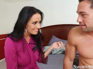brunette, blowjob, big tits, naughty america, pornstar, hardcore