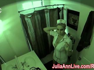 Infirmière julia ann visits pour an oral examen!