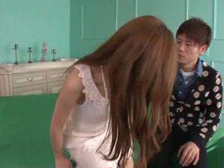 Erena aihara looks nii armas sisse a cream pits kleit