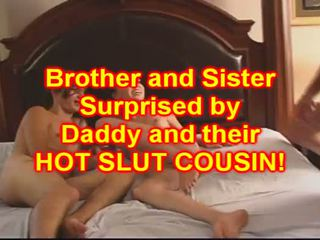 Brother and Sister FUCK their babe Cousin