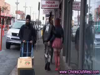 Aussie couple get jiggy in public spaces