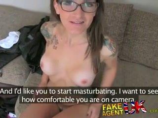 Fakeagentuk creampie filling for slim tattood local waitress