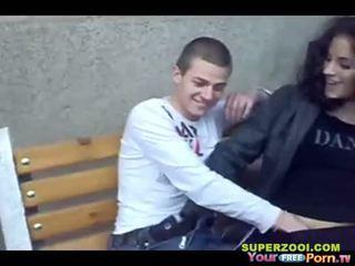 Bułgarskie nastolatka publiczne seks