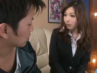 いたずらな オフィス フェラチオ バイ セクシー aiko hirose: フリー ポルノの 22