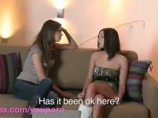 Lesbea HD Roommate has virgin lesbian ...