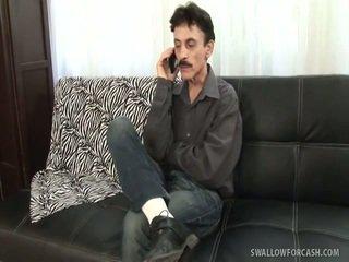 브루 넷의 사람, 하드 코어 섹스, 작업을 날려
