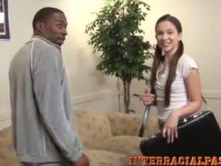 interracial, velik črn kurac, teen