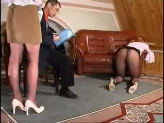 Angry Boss Fucks His Secretaries Video