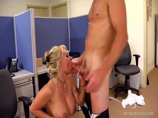 Bitchy Blonde Goddess Holly Halston Is Tthat Guy Ultimate Milf Boss!