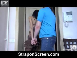 Smoking Hot Irene, Connor, Cora Performing For Strapon Screen