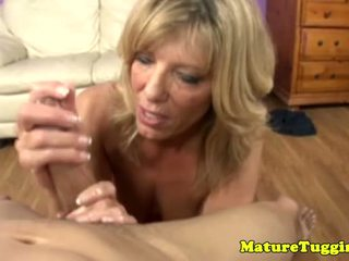 Milf Tugjob Lover Toying With Cock