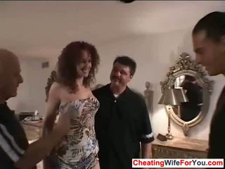 Redhead wife get jizzed on