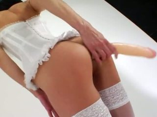 Daintily Long Dildo In Her Anal