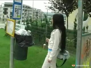 Fucking At The Bus Stop1