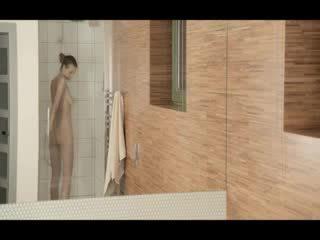 Reaching orgasm in the subtle shower