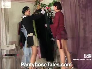 Strømpebukse tales scener med kathleen, rosa, govard
