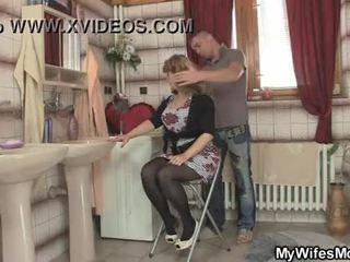 Beliau isteri leaves dan beliau bangs beliau panas ibu