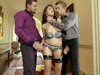 brunette, hq double penetration pinakamabuti, vaginal sex sariwa