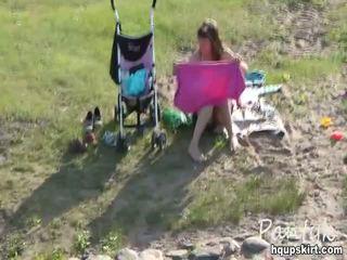 Nude Girl Having Fun In The Park