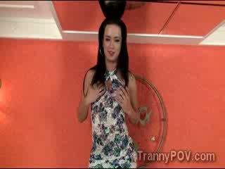 Teasing shemale Bianka Nascimento looks gorgeous in POV