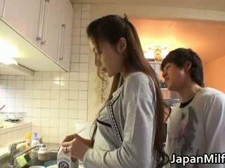 japonês, cozinha, milf