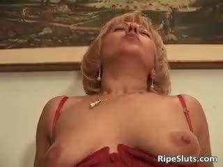 Hairy Bush Of Mature Slut Is Drilled P...
