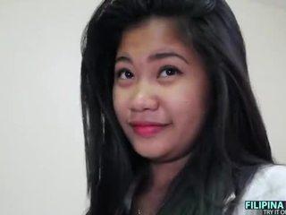חזה גדול filipina נוער ו - a גדול לבן זין