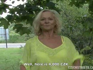 granny, mature, outdoor