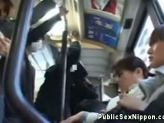 Publicsex Asian Fingered On The Bus