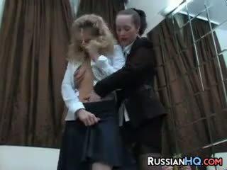 lesbian, russian, strapon