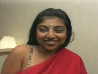 Pretty indian gets sticky jizz all over her face
