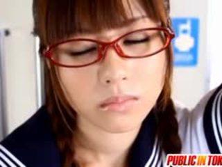 น่าประหลาดใจ วัยรุ่น rina rukawa loves ร่วมเพศ strangers ใน สาธารณะ
