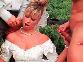 pissing, uniforme, brides