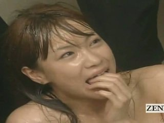 Subtitled enf cmnf บ้า ญี่ปุ่น สำเร็จความใคร่ spattered คุณครู