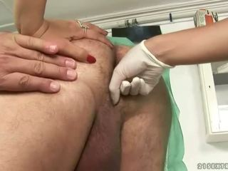 Grandpa fucking and pissing on sexy young doctor