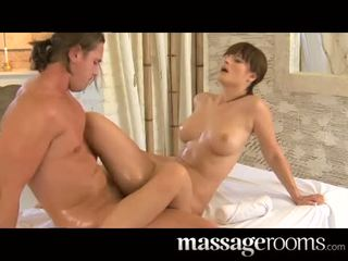 Special massage by Rita with her natural tits