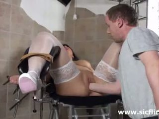 Blond Milf Fist Fucked By Her Doctor