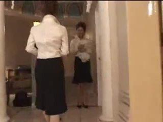 3 branca meninas em japonesa massagem parlor