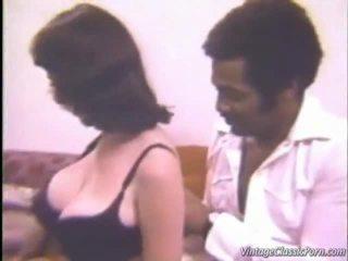 suur-rinnad, interracial sex, vintage porn