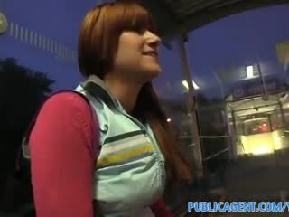 PublicAgent HD She fuckes me for money whilst waiting for her train