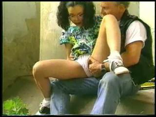 pussy licking, outdoors, young girl