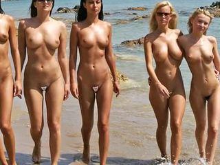Desnuda playa moda espectáculo 2