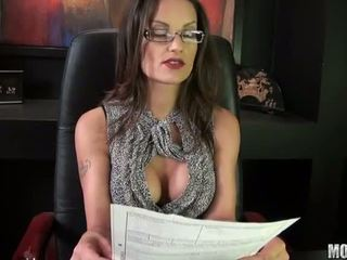 brunette, fucked, office sex