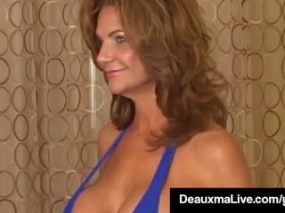 Texas Mega Milf Deauxma Vs Cali Diva Shay Fox in Boob Fight!