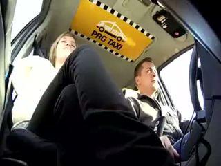taxi, czech, blonde