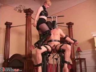 folter, domina, device bondage