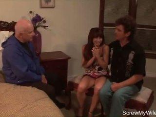 Šiurkštus seksas už ištvirkęs svingeris namų šeimininkė